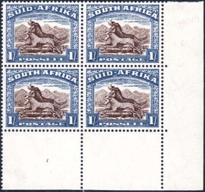 1948 1s corner block SG 62