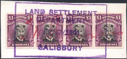 Rhodesia 1913-19 £1 Admiral SG 278