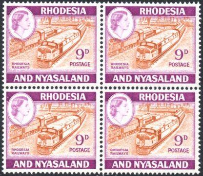 1959-62 9d Rhodesia Railways SG 24a