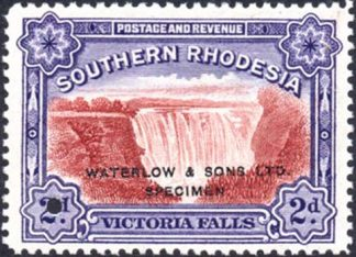 1935 2d Victoria Falls unissued colour