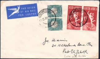 South Africa 1948 ½d used on cover