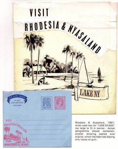 Rhodesia & Nyasaland 1957 Air letter art work