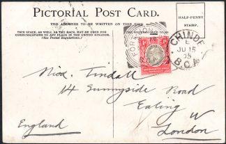 BCA postcard to UK Fort Johnston postmark