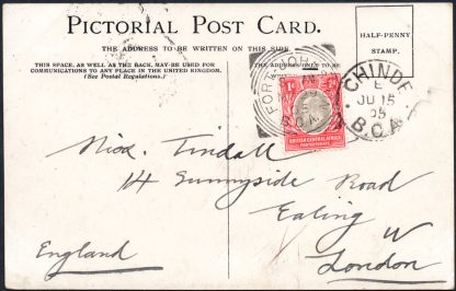 BCA postcard to UK Fort Johnston postmark