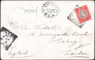 BCA 1906 postcard to UK, Fort Johnston