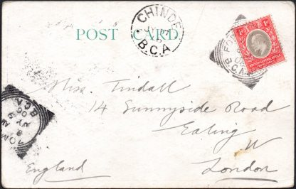 BCA 1906 postcard to UK, Fort Johnston
