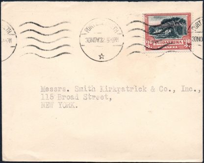 South Africa 3d SG.45 used on cover