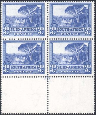 South Africa 1933-48 3d arrow block