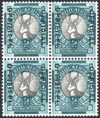South Africa Official ½d SG O31a