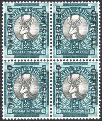 South Africa Official ½d SG O31a