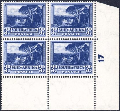 South Africa 1947-54 3d deep blue