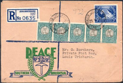 1948 Peace Southern Rhodesia cover