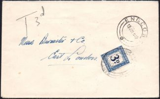 South Africa 1949 3d D37 postage due cover