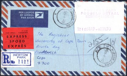 South Africa 1984 Postage Paid label