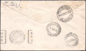 Southern Rhodesia UNCLAIMED cover