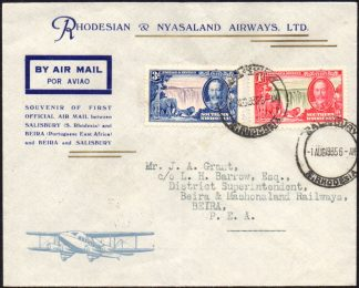 Southern Rhodesia 1935 First Flight cover