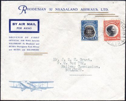 1935 first airmail Beira to Salisbury