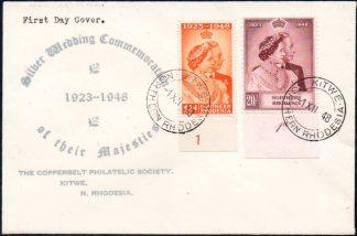 Norhern Rhodesia 1948 Royal Silver Wedding FDC