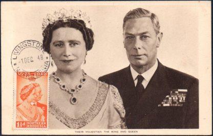 1948 1½d Royal Silver Wedding first day postcard