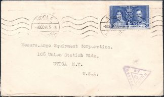 Northern Rhodesia 1941 censor cover