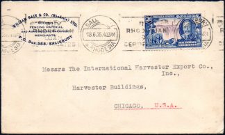 Southern Rhodesia 3d Silver Jubilee on cover