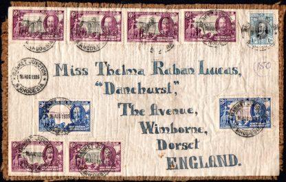 Southern Rhodesia Silver Jubilee franking