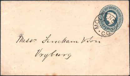 Cape ½d postal stationery envelope