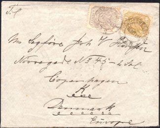1895 Transvaal cover to Denmark