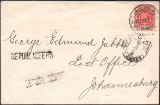 Transvaal UNKNOWN addressee cover