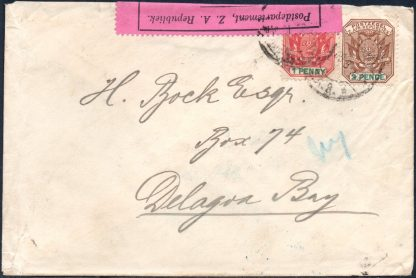 Transvaal 1900 censored cover to Mozambique