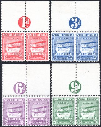 South Africa 1925 Airs numeral pairs