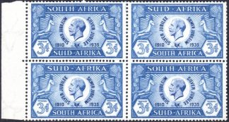 South Africa 1935 3d Cleft Skull Flaw
