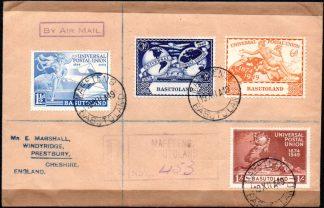 Basutoland 1949 UPU set on cover