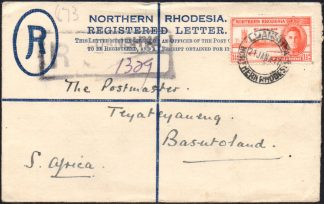 Northern Rhodesia 1½d Victory perf 13½ on cover