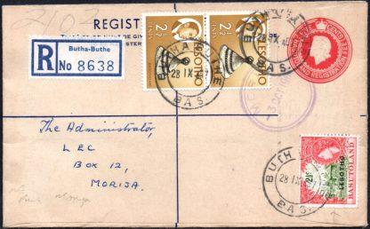 Lesotho 1967 cover, Butha Buthe postmark