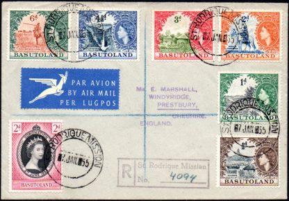 Basutoland 1955 St Rodrique Mission cover