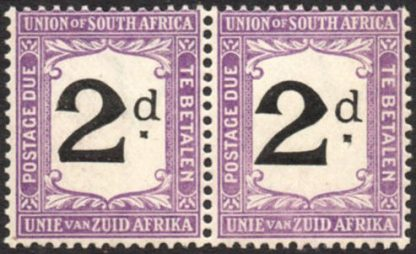 South Africa 1914 2d postage due
