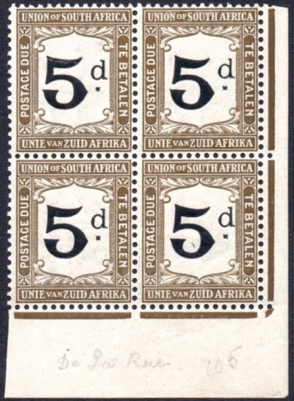 South Africa 1914 5d postage due