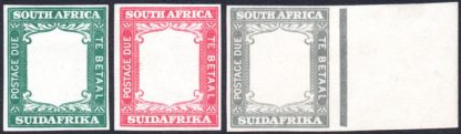 South Africa 1927 Frame proofs