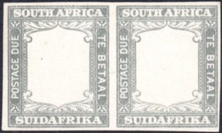 South Africa 1927 Frame Proof pair in grey