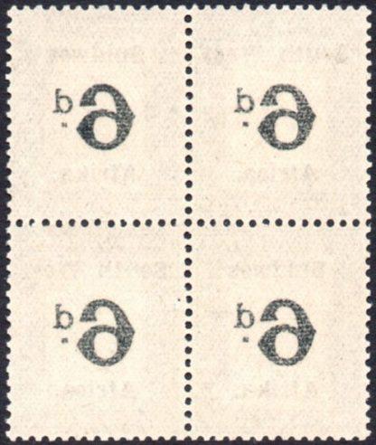 SWA 1927 6d offset variety