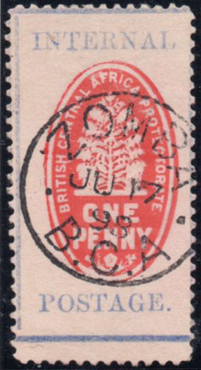 1898 1d cheque stamp without control