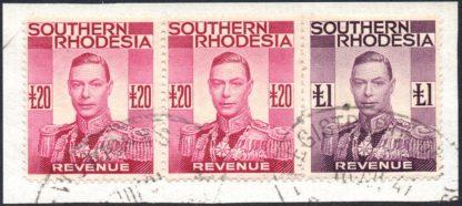 Southern Rhodesia 1937 £20 revenue