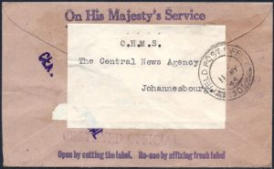 South Africa WWII FPO postmark