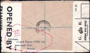 WWII Customs reseal label