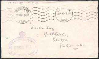 1940 Potchefstroom Camp cover