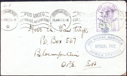 South Africa On Naval Service cover