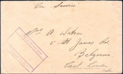 South Africa Prisoners of War Camp mail