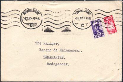 1945 South Africa to Madagascar cover